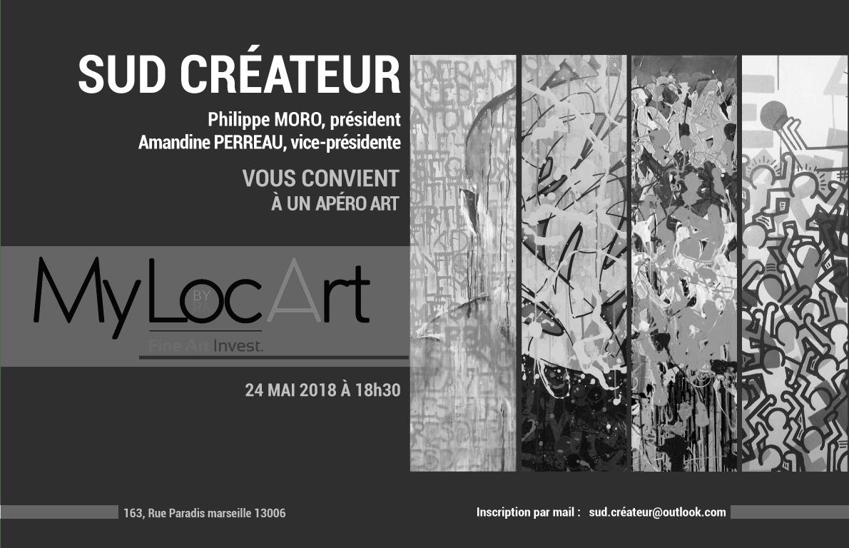 LE VERNISSAGE SUD CREATEURS ! AVEC MYLOCART ET FINE ART INVEST