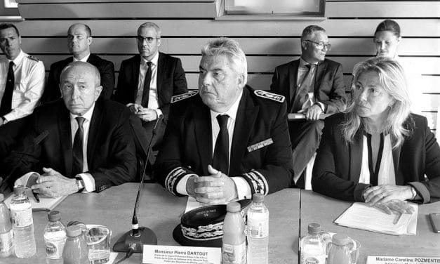 LE MINISTRE DE L'INTERIEUR GERARD COLLOMB A MARSEILLE