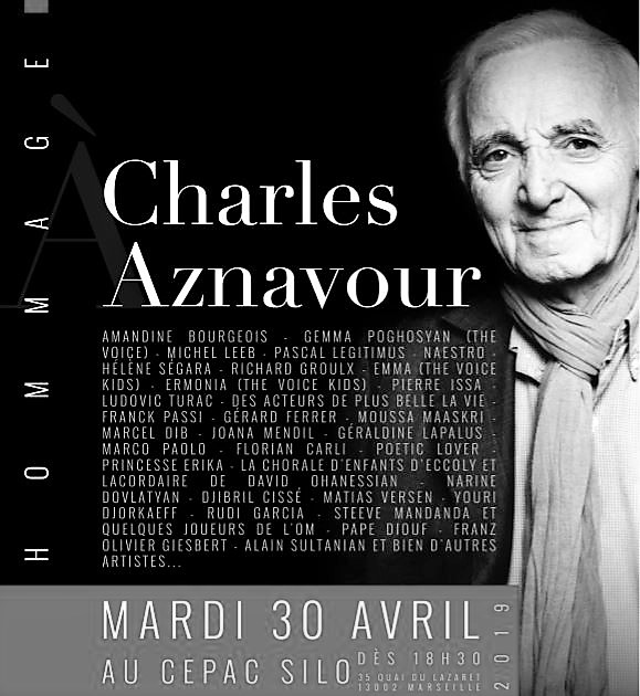 MARSEILLE REND HOMMAGE A CHARLES AZNAVOUR AU SILO !