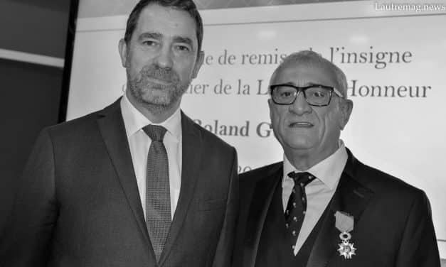 ROLAND GOMEZ FONDATEUR GROUPE PROMAN INTERIM, FAIT CHEVALIER DE LA LEGION D'HONNEUR PAR CHRISTOPHE CASTANER
