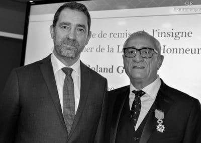 CHRISTOPHE CASTANER ET ROLAND GOMEZ MEDAILLE MANOSQUE